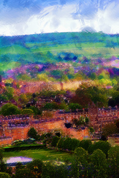 Little Solsbury over North Parade, Bath