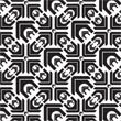 Kennel Pattern - Black and White
