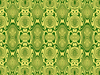 Green and Yellow Geometric Composition