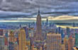 Looking towards the Empire State Building from the Rockefeller Tower, New York
