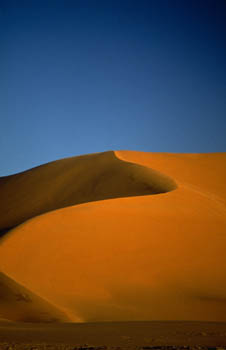 Orange Desert Sand Dune - Libya - South West Achan
