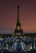 Eiffel Tower and Ile de France illuminated at Dusk