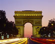 Ile de France and Arc de Triomphe, Paris
