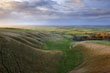 'The Manger', Uffington - undulating hills known as 'The Giant's Stairs'