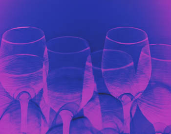 Blue Purple Wine Glasses
