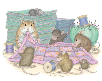 Mice sewing Quilt