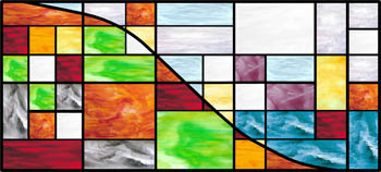 Earth, Air, Fire and Water - Stained Glass