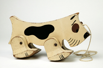 Pull-along Dog Toy, England, 20th Century