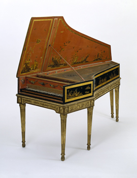 Harpsichord, made by Pascal Taskin, France