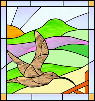 Curlew - Stained Glass