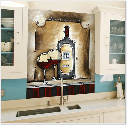 Kitchen And Bathroom Splash Backs Creatively Different