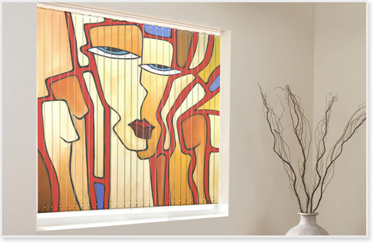 Printed Vertical Blinds Stunning Designer Blinds From