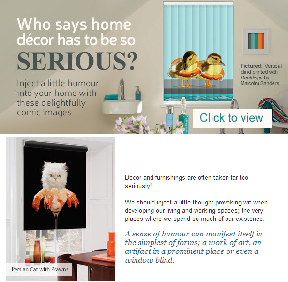 creatively different newsletter - fun window blinds