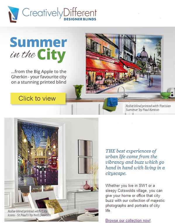 creatively different newsletter - summer in the city