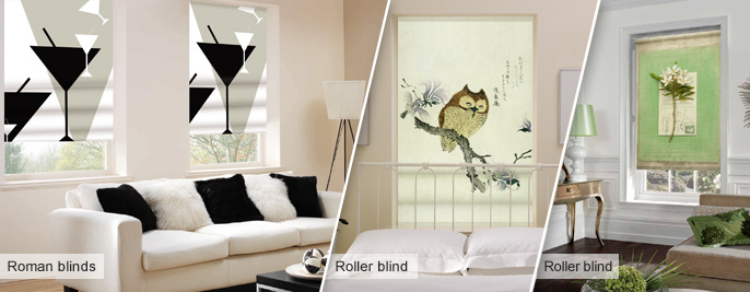 Designer Blinds Printed With An Image From Our Gallery Or Your Own Photo